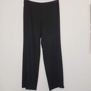 Armani Collezioni black pinstripe suit pants